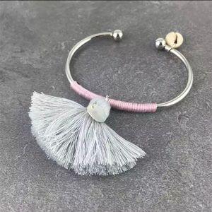 {coming soon} Gray, Pink & Gold Boho Bracelet